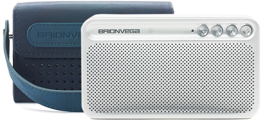 Brionvega Bluetooth Speaker with Leather Carrying Case