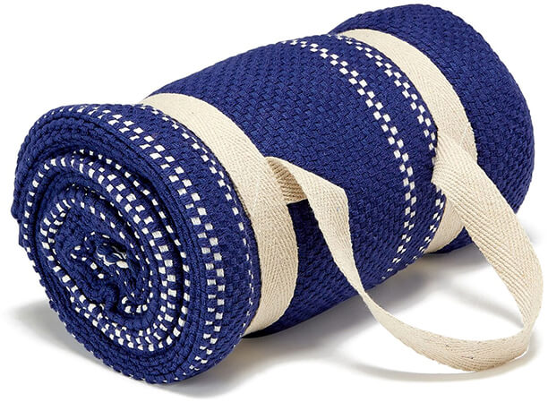 Turkish T Striped Beach Throw with Handle