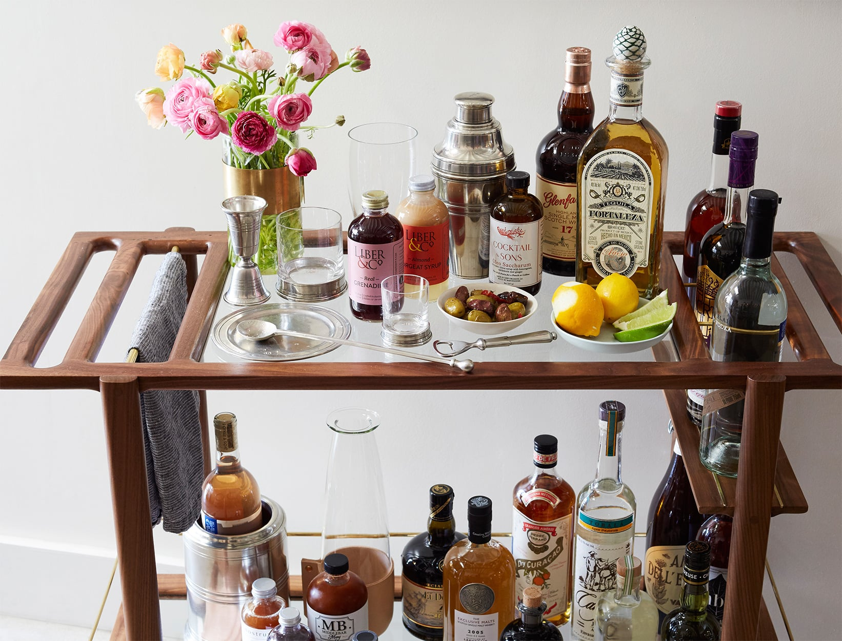 How To Assemble The Perfect Bar Cart Goop