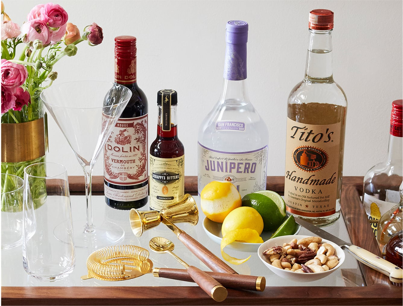 How to Assemble the Perfect Bar Cart