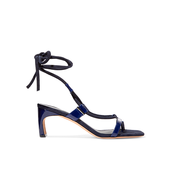 ROSETTA GETTY Patent-leather and suede sandals