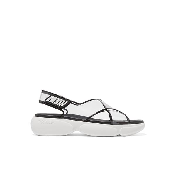 Prada Leather and PVC sandals