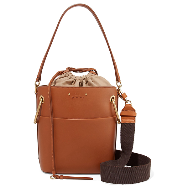 Valextra leather-trimmed canvas tote