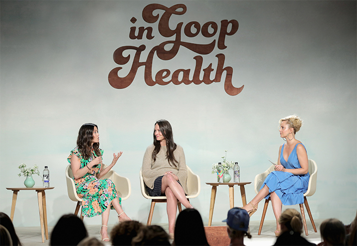 The Plant Nutrition Q&A, presented by Bolthouse FarmsⓇ Plant Protein Milk (from left to right): nutritionists Keri Glassman and Kelsey LeVeque and anchor Mena Suvari.