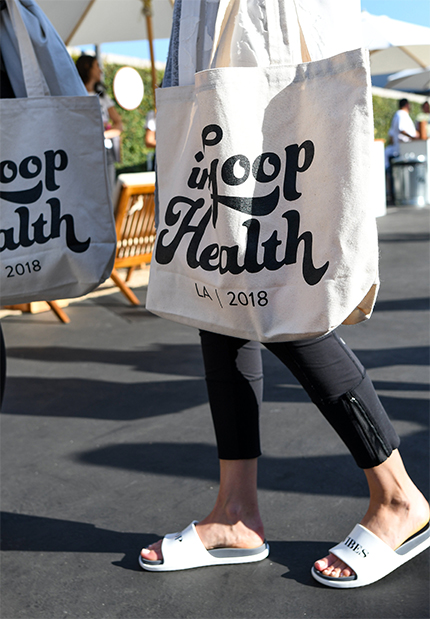 In goop Health tote bags
