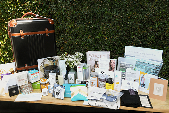 VIP giftbag filled with goop favorites