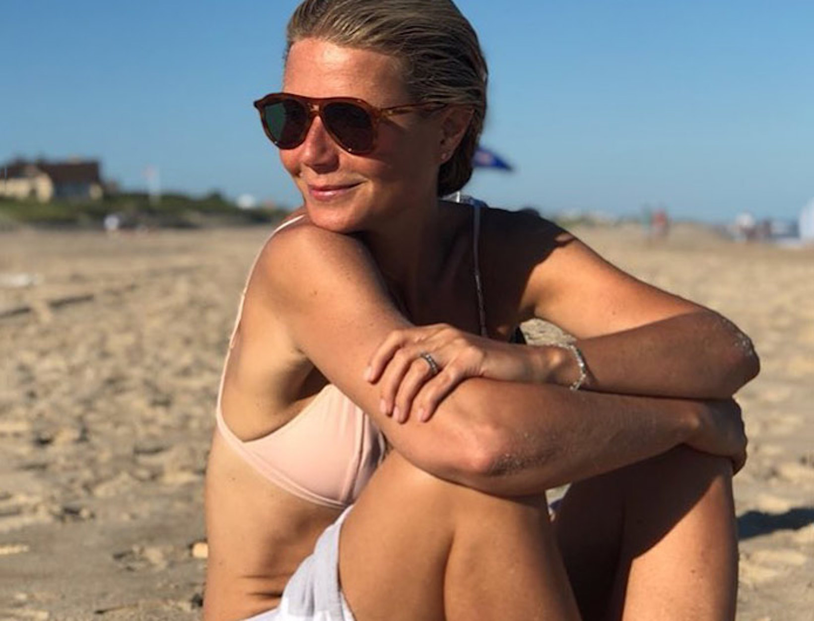 Gwyneth at the beach