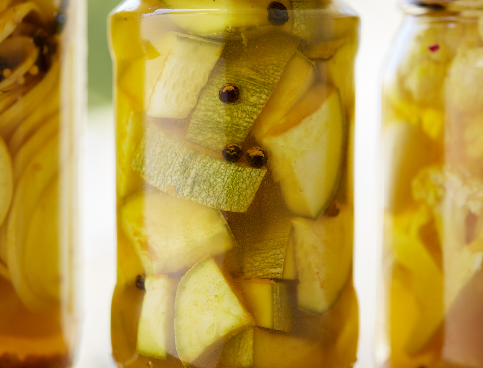 Bread-and-Butter-Style Pickles with Turmeric