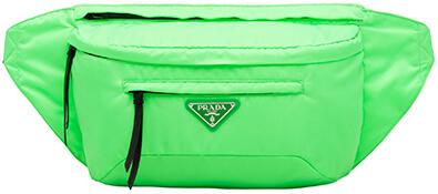 PRADA green nylon fanny pack