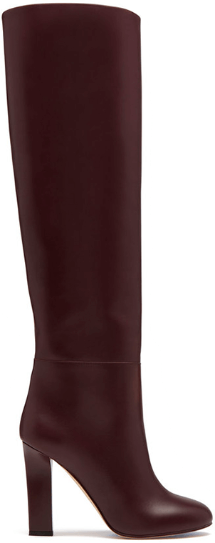 VICTORIA BECKHAM burgundy leather boots