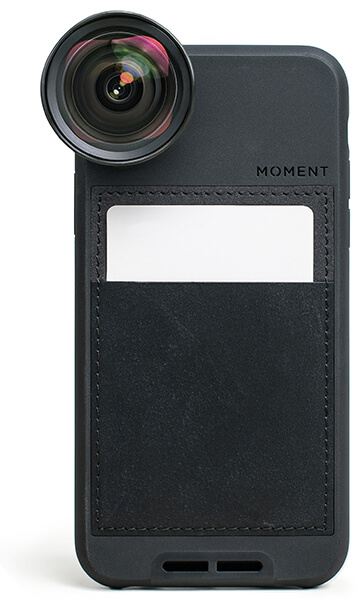 MOMENT Wide Lens and Leather Wallet Case, iPhone X