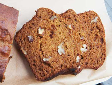 Spiced Pumpkin & Walnut Bread