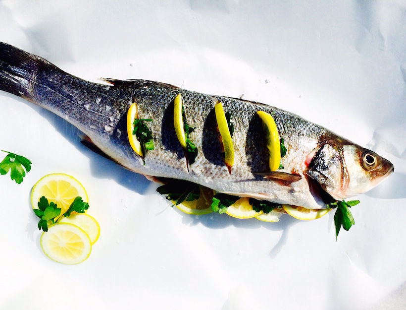 Whole Roasted Fish with Salsa Verde