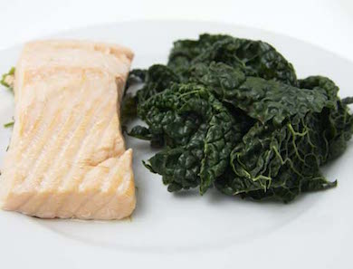 Steamed Salmon & Greens