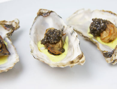 Fried Oysters with Curried Crème Fraîche