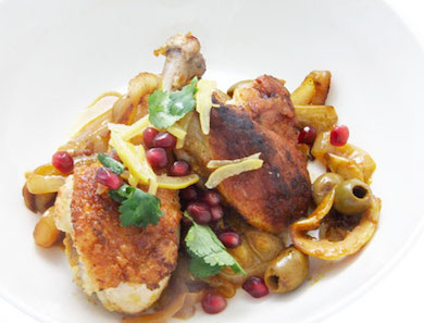 Chicken with Onions, Lemon & Saffron