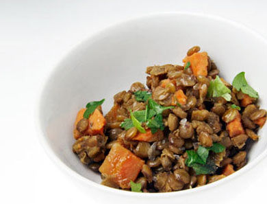 Lentil & Sweet Potato Salad