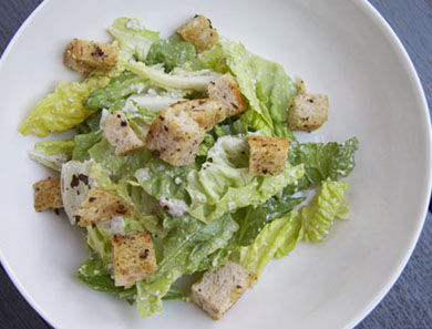 Un-Caesar With Rosemary Thyme Croutons