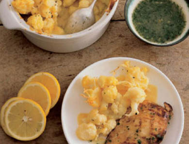 Lemon Chicken with Cauliflower