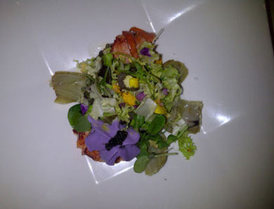 Lobster Salad with Purple Potato Foam & Italian Caviar