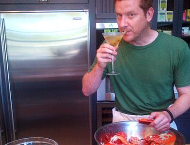 Olly's Insane Dirty Vodka Martini