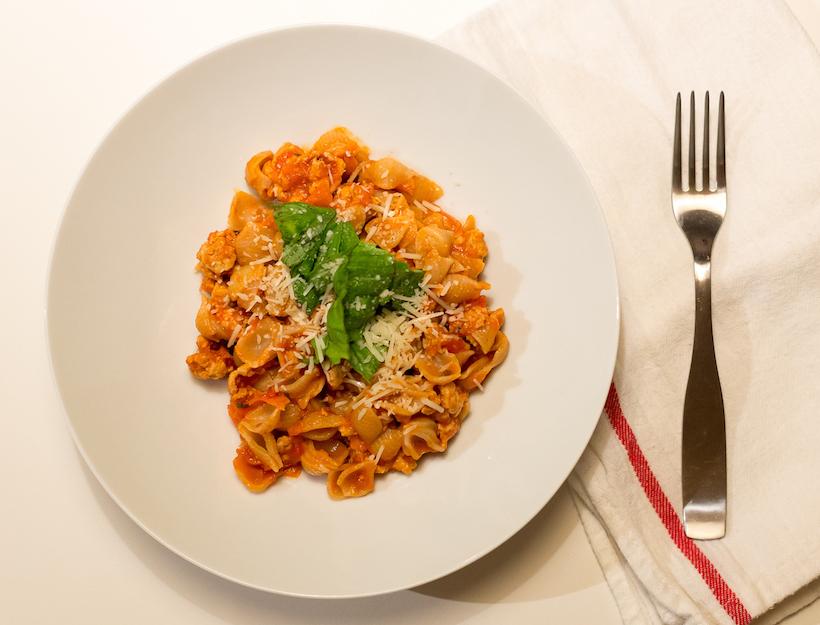 Quinoa Pasta alla Turkey Bolognese