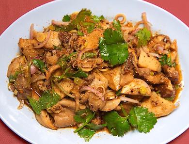 Het Paa Naam Tok (Forest Mushroom Salad)