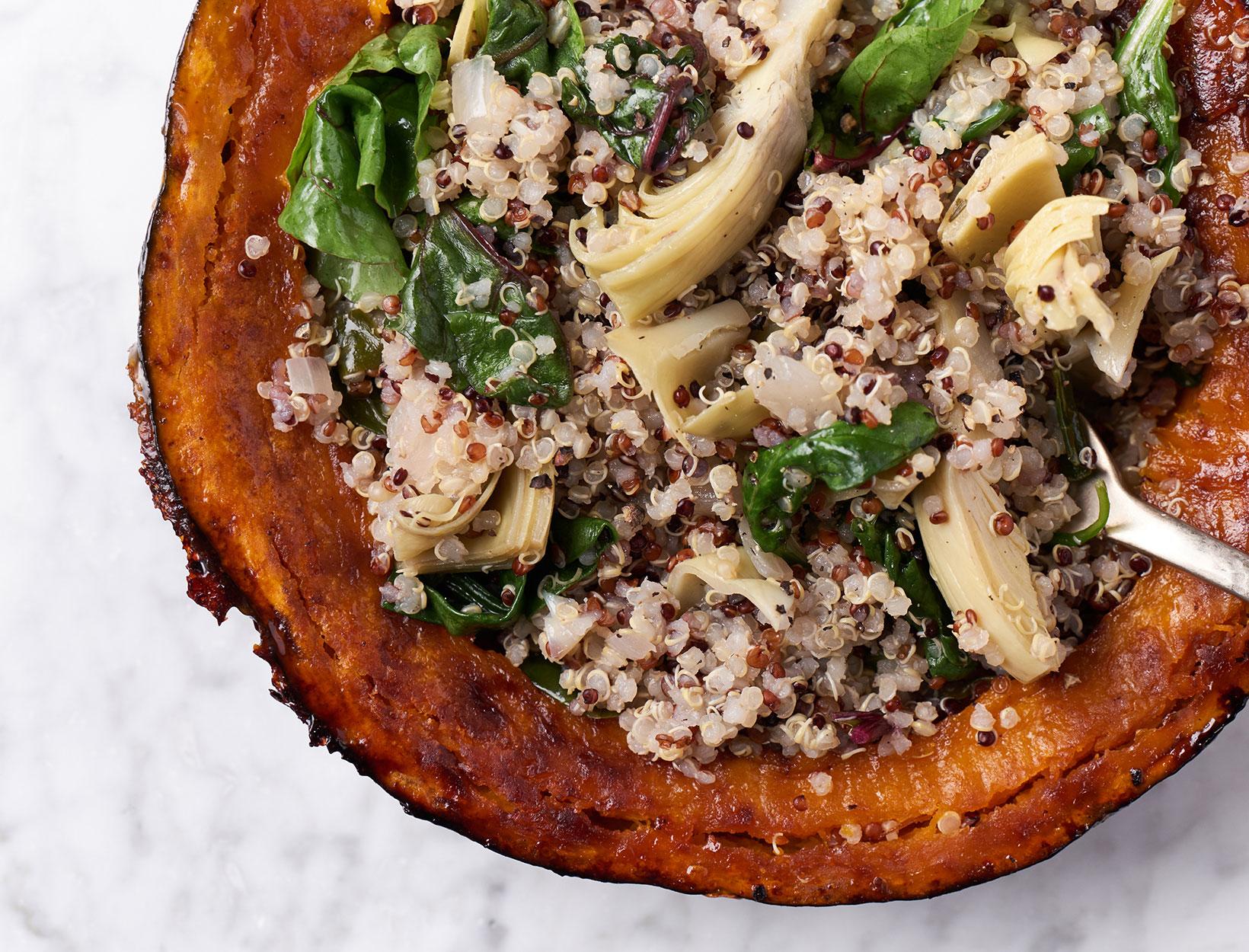 Quinoa Stuffed Kabocha Squash