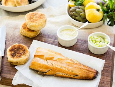 Smoked Sablefish on an English Muffin