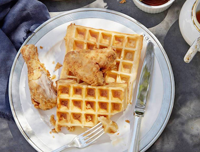 Adobo Fried Chicken and Waffles