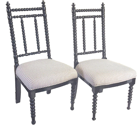 Chairish, Vintage Abacus Back Chairs