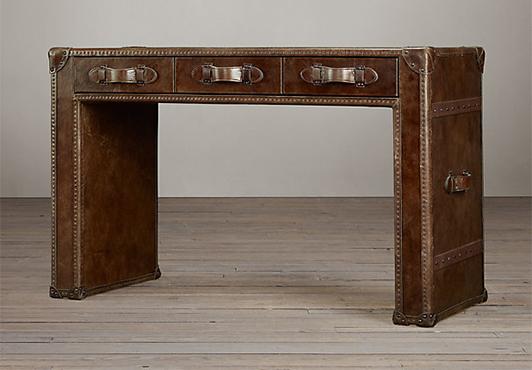 RH, Mayfair Steamer Trunk Desk