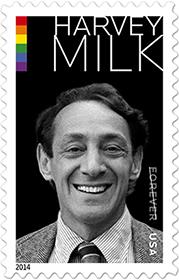 Harvey Milk Stamp edition, USPS, $9.80 sheet of 20