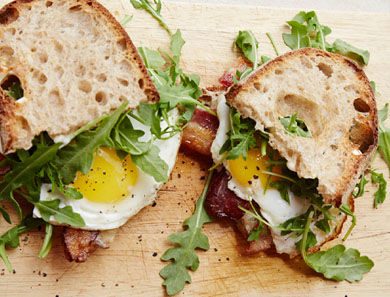 Huck's Fried Egg Sandwich