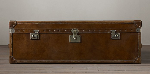 RH, Mayfair Steamer Trunk Coffee Table