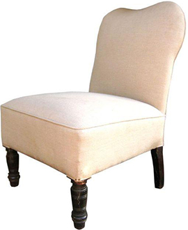 Chairish, Vintage French Slipper Chair