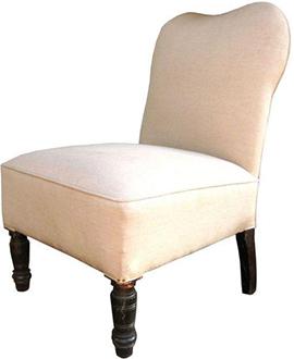 Chairish, Vintage French Slipper Chair