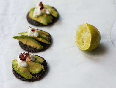 Avocado on Rice Cracker
