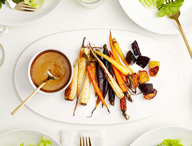 Balsamic Miso Root Salad