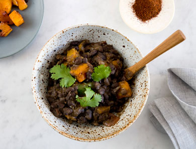Black Bean + Roasted Butternut Squash Chili
