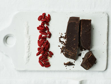 CHOCOLATE-COVERED GOJI BERRIES_390x297