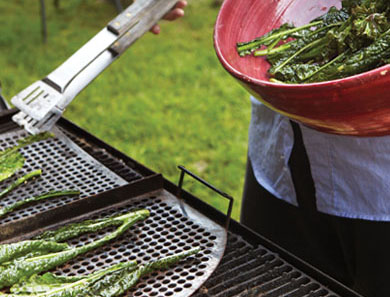 Crispy Tuscan Kale on the Grill
