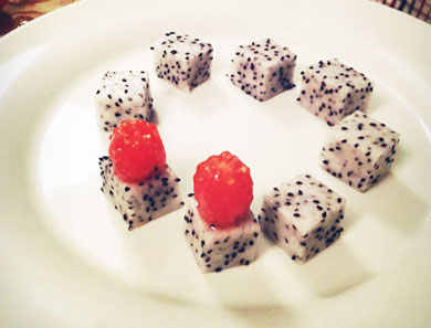 "Dragon Fruit & Tomato ""Caviar"""