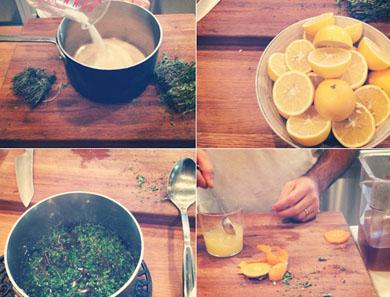 Meyer Lemon Thyme Cocktail