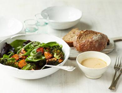 Miso Sweet Potato + Broccoli Bowl