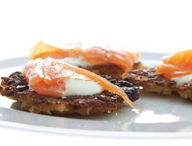 POTATO & APPLE LATKES WITH SMOKED SALMON_390x297
