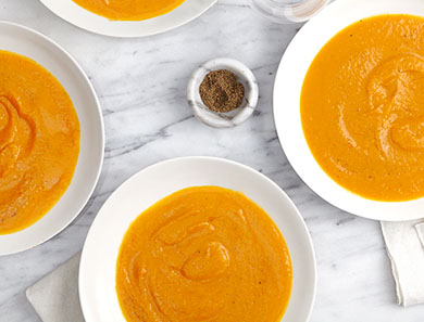 Roasted + Clean Carrot Soup
