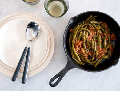 Slow-Braised Green Beans