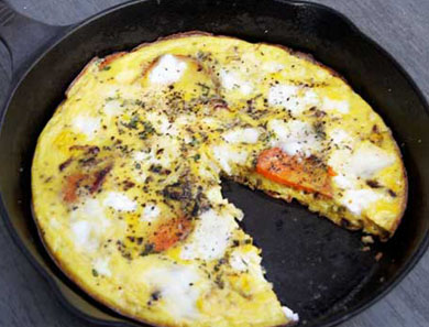 SWEET POTATO & GOAT CHEESE FRITTATA_390x297