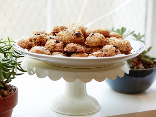 Almond Flour Chocolate Chip Coconut Cookies